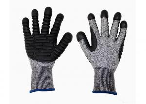 China HPPE Cut Proof Gloves Heavy Duty Knitted Safety Gloves With TPR Palm on sale