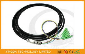 China 6 Core SC / APC Fiber Optic Pigtail singlemode 9/125 um OS2 LSZH 15 Meter 0.9mm on sale