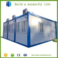 China light steel framed prefab flat pack living 20ft container house on sale