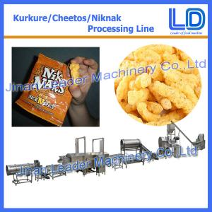 China Automatic kurkure chips making process machine plant price on sale
