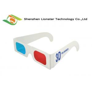 China Anaglyph 3D Movie Glasses Passive 3D Glasses Red Cyan Picture Glasses For Adults And Kids on sale