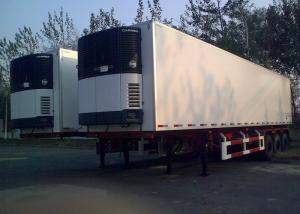 China 45 Foot Refrigerated Truck Trailer , Freezer Box Trailer With Three Axles on sale