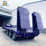 Air Suspension Front Loading Modular 40FT Hydraulic Low Bed Trailer