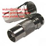 China Coaxial Adapter Coaxial Adaptor PAL Male To F Male TV Cable Adapter Connector / FM.PALM wholesale