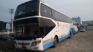 China YUTONG Band Used Coach Bus 2013 Year With A/C / Diesel Weichai 336hp Engine on sale