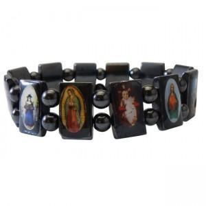 China magnetic religion bracelet with elastic on sale