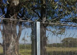 China High Security Clearvu Wire Fence Panels 1800mmx2515mm width on sale