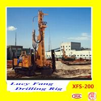 China Hot Multi-function XFS-200 Mobile Hydraulic Foundation CFA Earth Auger Drilling Rig