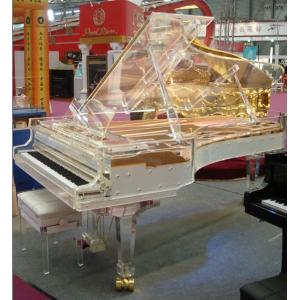 Полностью прозрачный акриловый большой рояль- большинств исключительные хандмаде кристаллические рояли