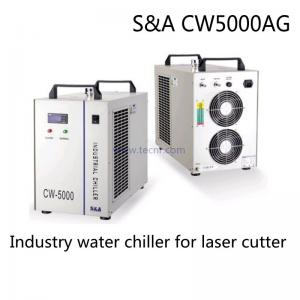 China S&A  CW5000 laser water chiller 220V for cooling 100W CO2 laser tube on sale