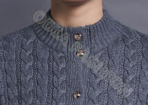 81b5c0c64451f5 ... Quality Full Cable Knit Women Turtle Neck Sweater Cardigan long sleeve  with Metal for sale ...