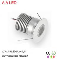 AC/DC12V or DC24V mini recessed silver inside LED spot light for clothing shop use