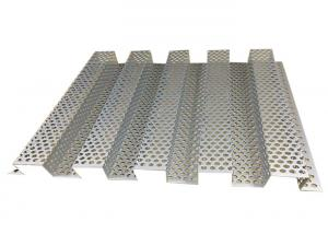 China Hexagonal Perforated Aluminum Sheet Artistic Corrugated Shape Moisture Proof on sale