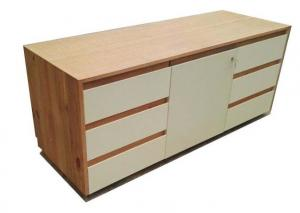 China 6 Drawers Bedroom Dressers And Chests With Soft Closing Slides Light Color on sale