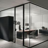 clear tempered glass for office partitions ,office used glass wall partitions,glass room divider