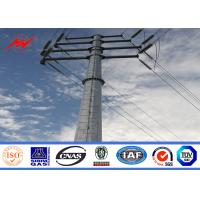 15m 1250 Dan Galvanized Steel Pole For Electrical Powerful Line