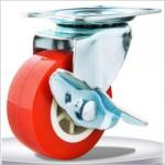 2 inch small furniture casters with brakes