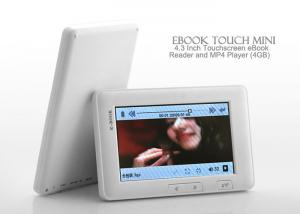China Portable Mini Touch Screen 4.3 Backlit Ebook Handheld Reader With 16 GB TF Card on sale