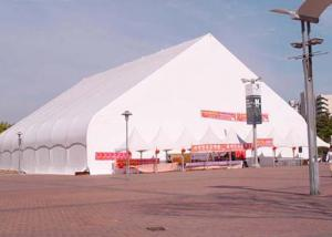 China PVC Roof White Custom Made Tents , Elegant / Luxury Outdoor Display Tents on sale