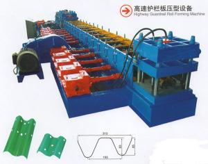 China Full Automated Italian Technology Highway Guardrail Roll Forming Machine European Standard Expressway Barrier on sale