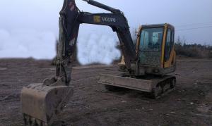 China $20000 used mini 2011 made  excavator/digger volvo EC55B on sale