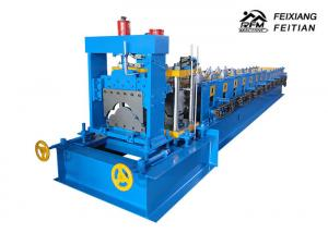 China 312 Roof Tile Roll Forming Machine , PLC Control Ridge Cap Roll Forming Machine on sale