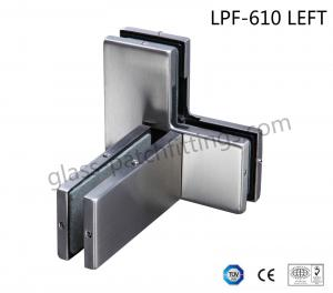China Die Casting Bottom Patch Fitting , Glass Door Accessories Triple Glass Connector on sale