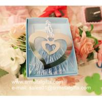 Heart shape polish steel bookmark, etched heart shape mirror effect steel bookmarks
