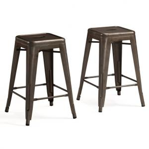 China Professional Marais Cafe Restoration Metal Tolix Chairs , Tolix Counter Stool on sale