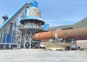 China 2.5*44m rotary kiln / quicklime calcining kiln / active lime burning kiln on sale
