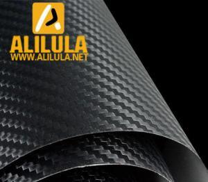 China Black 3D Carbon Fiber DIY Car Wrap Sheet Roll Film Sticker Vinyl Decal on sale