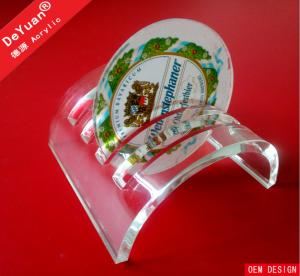 China Cambered Acrylic Coaster Display Stand In High Glossy Caffe Use on sale