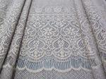 Grey Eyelash Knitted Cotton Nylon Stretchy Lace Fabric Thick Flower For Lady Dress