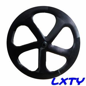 China 55mm carbon clincher 5 spoke front wheel,5 spoke bicycle wheel,5 spoke wheel on sale