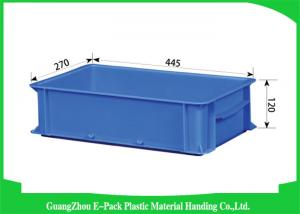 China Supermarkets Large Plastic Storage Boxes , Durable Euro Storage Containers Food Grade on sale