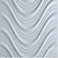 China 3D White Interior Stone Wall Decorative Surface Panel on sale