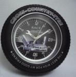 horloge créative de pneu de voiture pour fixé au mur ou le bureau/alarme