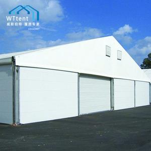China Outside Storage Warehouse Tent , Big Temporary Warehouse Tent Rolling Door on sale