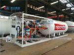 Nigeria NIPCO 10Tons LPG Skid Station with Filling dispenser for cylinder & car refilling