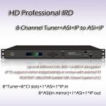 Huit-canal HD IRD professionnel DVB-T/DVB-S2/DVB-S/DVB-C, et récepteur RIH1308 d'ISDB-T