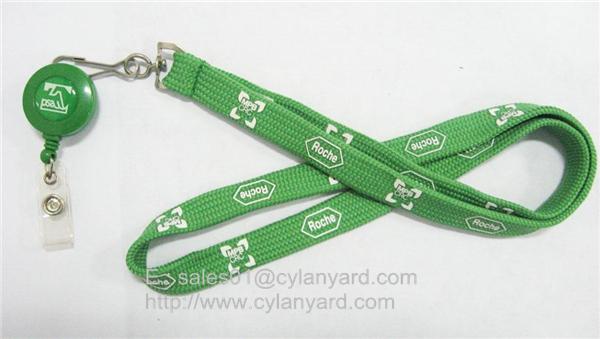 plastic badge reel neck straps