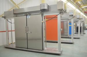 Attractive Quality Cold Room Frozen Room Stainless Steel Thermal Insulation Sliding  Doors With Air Curtain For Sale