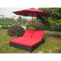 China Comfortable Outdoor Rattan Daybed , Wicker Double Chaise Lounge on sale