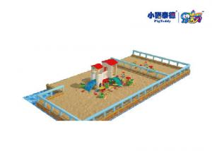 China Wooden Outdoor Kids Play Sand Pit For Amusement Park Customized on sale