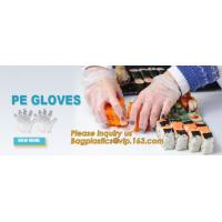 Disposable PE elbow length gauntlets gloves,disposable plastic PE glove with high quality for medical glove bagplastics