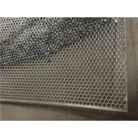 Hexagonal Perforated Metal Sheet , Perforated Galvanized Steel Sheet For Construction