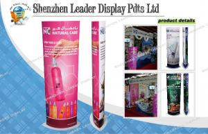 China Custom Roll Up Cardboard Advertising Standee Glossy Varnishing For Trade Show / Exhibition on sale