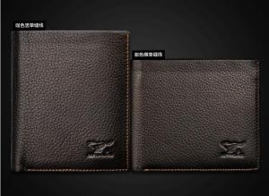 China real cow leather wallets guangzhou factory OEM on sale