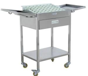 China Medical Trolleys Hand Cart For Nurse Ward Medicine Dispensing on sale