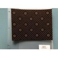800gsm Chestnut Neddle Punched  Non Woven Cloth With Flower Dots Backing